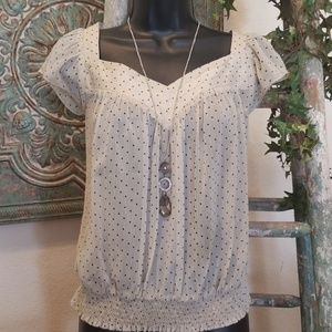 Fire Los Angeles Tops - Fire L.A. sheer dotted top